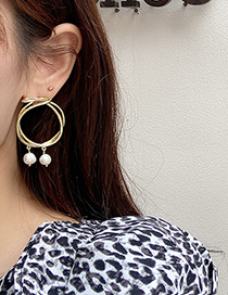 Fashion Gold Color Freshwater Pearl Earrings
