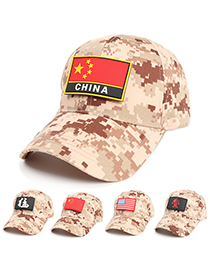 Fashion Skull Camouflage Flag Stars And Stripes Baseball Cap