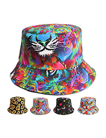 Fashion Black Graffiti Printed Black Graffiti Double-sided Hat