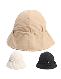 Fashion Off-white Drawstring Elastic Band Fisherman Hat