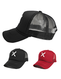 Fashion Black Printed X Letter Baseball Cap