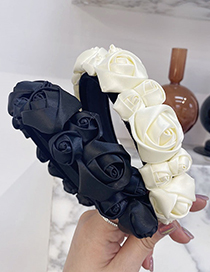 Fashion Light Gray Three-dimensional Flower Rose Headband