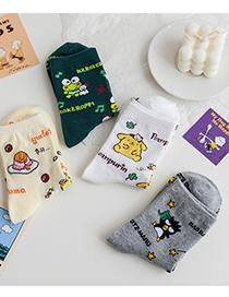 Fashion Tomatoes And Eggs Animal In Tube Cartoon Frog Pudding Dog Socks