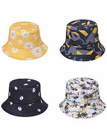 Fashion Apple Printed Apple Daisy Coconut Tree Camouflage Hat