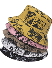 Fashion Camel Comic Cartoon Character Print Fisherman Hat