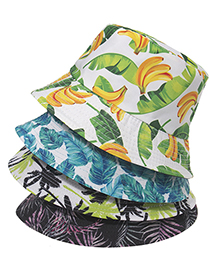 Fashion 5 Printed Plant Pattern Fisherman Hat