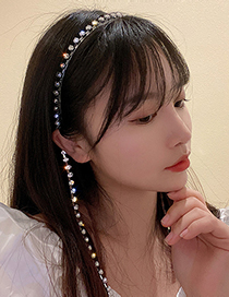 Fashion Silver Color Diamond Tassel Headband