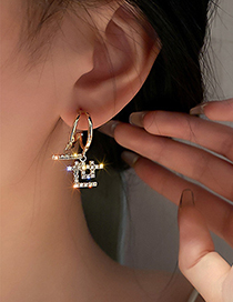 Fashion Gold Color Lifetime Text Earrings