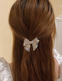 Fashion Butterfly Hairpin Full Rhinestone Bow Hairpin