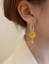 Fashion Yellow Flowers Flower Earrings