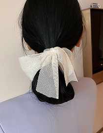 Fashion Black Bowknot Multi-layer Pearl Crystal Hair Rope