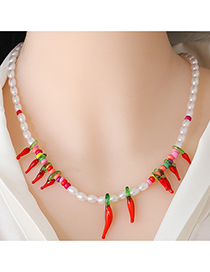 Fashion Chili Little Pepper Pearl Necklace