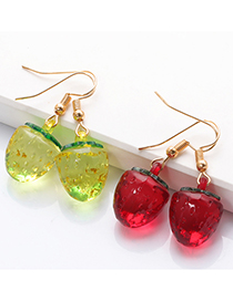 Fashion Rose Red Strawberry Fruit Earrings