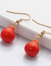 Fashion Red Red Pear Fruit Earrings