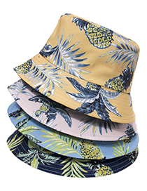 Fashion O Fruit Pineapple Print Sunscreen Hat