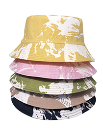 Fashion Skin Powder Sunscreen Tie-dye Fisherman Hat