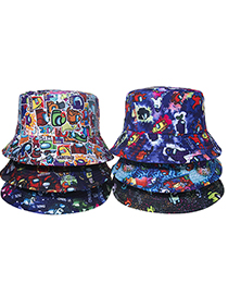 Fashion F Space Werewolf Killing Game Cartoon Printed Fisherman Hat