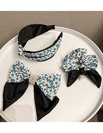 Fashion Bowknot Spring Clip Ginger Yellow Floral Knotted Hit Color Bow Hairpin