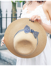 Sombrero De Paja Protector Solar De Borde Grande Plegable