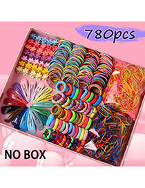 Fashion 1# Color Hairpin Hair Rope Set