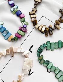 Fashion Brown Acrylic Irregular Shape Necklace