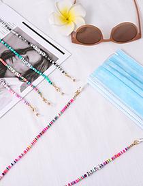 Fashion Black And White Rainbow Soft Terracotta Love Letter Glasses Chain