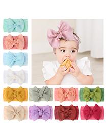 Fashion Purple Bowknot Knotted Children's Nylon Headband