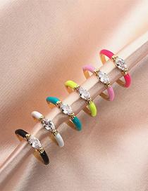 Fashion Rg0464-f Oil Drop Diamond Ring