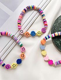 Fashion Color-1 Copper Soft Pottery Smiley Face Bracelet