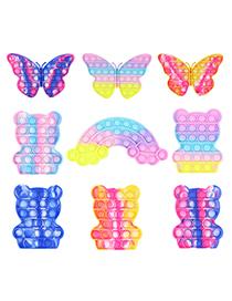 Fashion Rainbow Bear G002-08 Tie-dye Bear Children's Decompression Bubble Toy