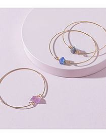 Fashion Purple Irregular Stone Bracelet