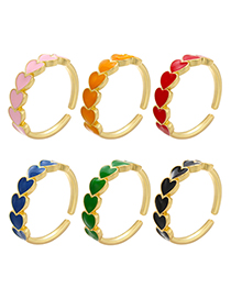 Fashion Red Drop Oil Love Open Ring