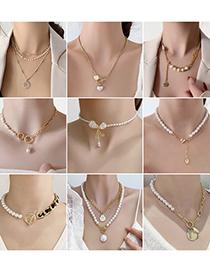 Collar De Arco De Amor De Letra De Empalme De Perlas