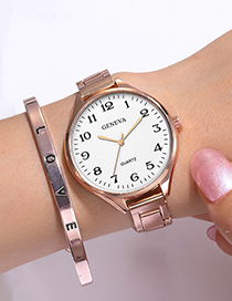 Fashion Silver Large Dial Thin Steel Band Watch