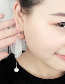 Fashion Mutli-color Wings Shape Decorated Tassel Design Color Matching Earrings