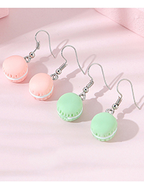 Fashion Pink Small Bread Resin Alloy Earrings