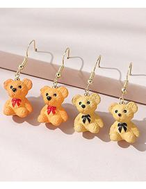 Fashion Light Yellow Bear Earrings