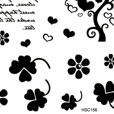 Uniqe black Wishing Tree pattern design