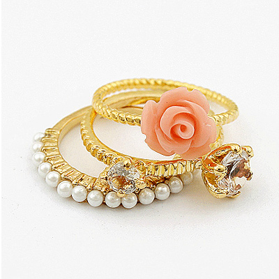 layering gold ring design spiral designs rings models pin and layered