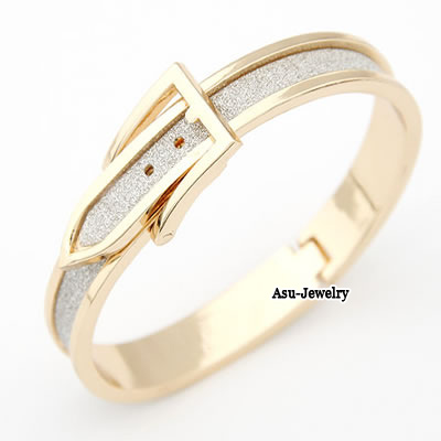 Tattoo Gold Color Sector Shape Alloy Fashion Bangles