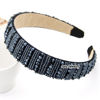 Posh Dark Coffee Big Braided Design Knitting Wool Hair band hair hoop