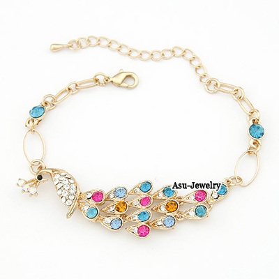 Fashion Multi-color Tree&eyes Shape Decorated Bracelet (3 Pcs )