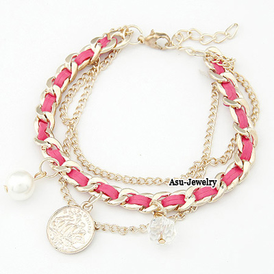 Personality Coffee Eye Decorated Hand-woven Multilayer Bracelet