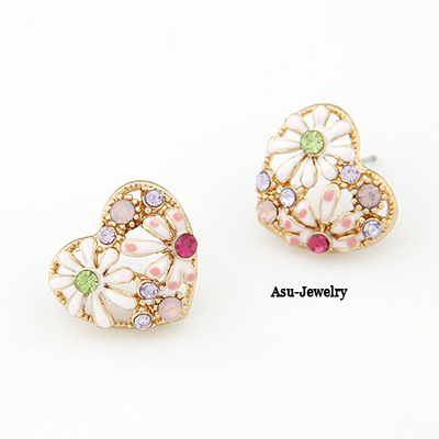 Fashion Gold Color Star Shape Decorated Earrings (12 Pcs )