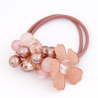 Fashion Red Flower Pattern Decorated Weave Design  Alloy Hair band hair hoop