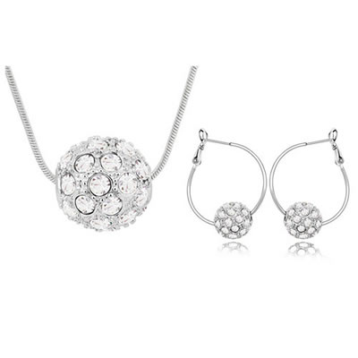 Waist White Set-Colorful Ball Alloy Crystal Sets