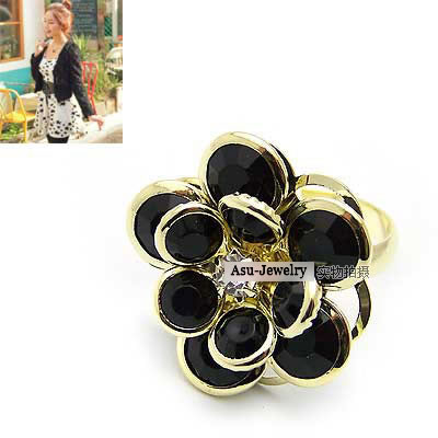 Fashion Point Snake Ear Buckle Adjustable Serpentine Alloy Ring Earrings With Diamonds