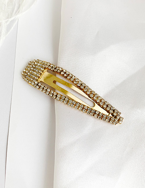 Fashion Gold Alloy Diamond Bb Clip