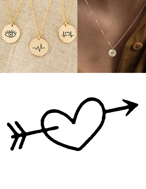 Fashion Steel Color Stainless Steel Engraved Necklace Adjustable Necklace 9mm