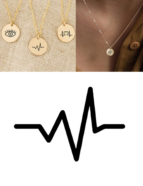 Fashion Golden Stainless Steel Engraved Electrograph Adjustable Necklace 9mm